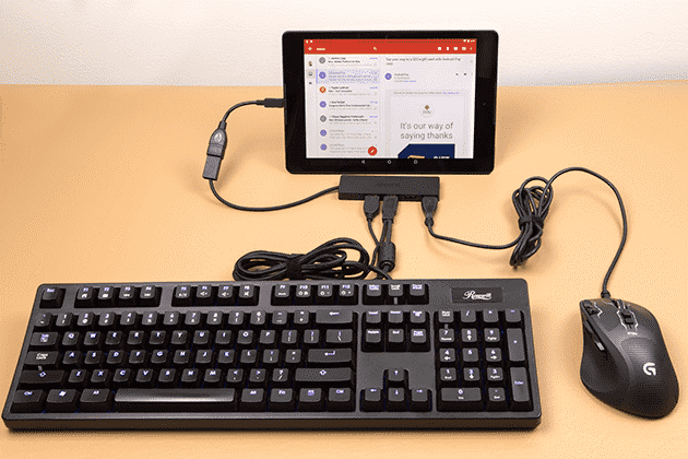 keyboard for a tablet - USB OTG رابط بین دو گوشی؛7 کاربردی که نمیدانستید!